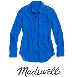 Madewell Broadway and Broome Silk Button Down Top